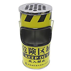创意礼物☆日系可挂式金属烟灰缸 杂物桶 手提金属垃圾桶