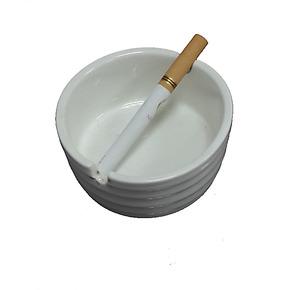纯色 白色 小型迷你烟灰缸