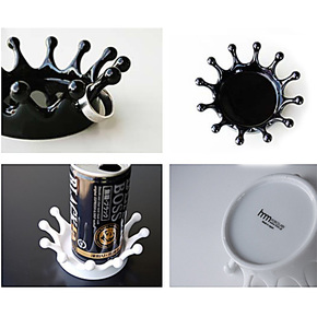 创意牛奶皇冠托盘 烟灰缸 置物篮 3色可选 小型烟灰缸 ps塑料制成