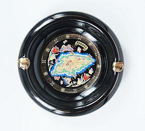 陶瓷烟灰缸  黑釉烤金 家居日用 高贵复古风 特小型 24K金