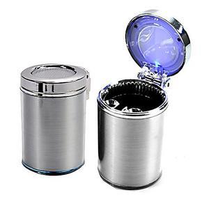 创意时尚带LED灯蓝光汽车小型车载烟灰缸 车用烟灰缸