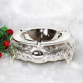 全网最低价创意时尚个性烟灰缸合金镀银金属烟灰桶家居饰品摆件