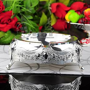 全国包邮特价欧式烟灰缸酒店KTV合金烟灰缸厂家批发银色四个尺寸