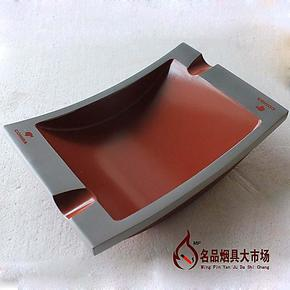 COHIBA 纯金属 雪 茄专用烟灰缸 双烟槽 铝合金制