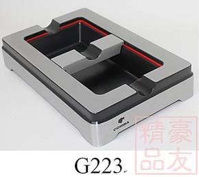 COHIBA纯金属拉丝雪 茄烟灰缸 可调烟槽设计
