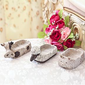 烟灰缸创意个性 时尚礼品烟灰缸欧式 动物烟灰缸树脂工艺品艺术