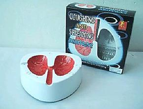 搞笑整人玩具 戒烟好帮手-会咳嗽的肺部烟灰缸-声控烟灰缸182g