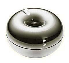 丹麦Rosendahl大号银苹果不锈钢创意烟灰缸欧式时尚带盖个性烟缸