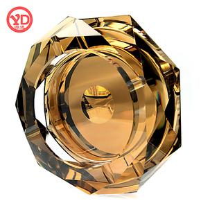 源达 水晶烟灰缸创意个性时尚欧式复古大号精品 送父亲男友礼物
