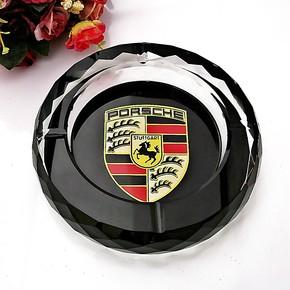 家居摆件车标水晶烟灰缸欧式时尚创意精品个性小号压型聚宝盆烟缸