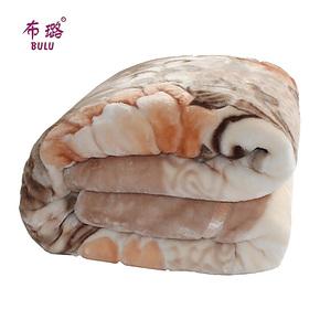 布璐家纺婚庆冬季用加厚毛毯双人9斤双层拉舍尔毛毯毯子特价包邮