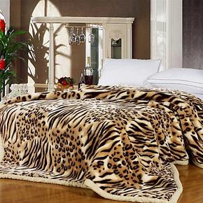 优宜家纺 加厚双层 拉舍尔 毛毯 冬季盖毯 厚毛毯 特价 秒杀毯子