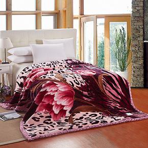 碧水柔家纺 婚庆拉舍尔双层加厚毛毯 超柔厚毯子9斤毛毯特价包邮
