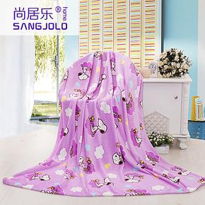 加厚珊瑚绒毛毯 单/双人法莱绒法兰绒毯子 卡通儿童盖毯 冬用床单