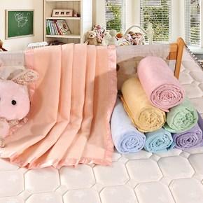丝贝雪婴儿小毛毯 儿童毛毯 双层加厚竹纤维毛巾被 午睡毯包邮