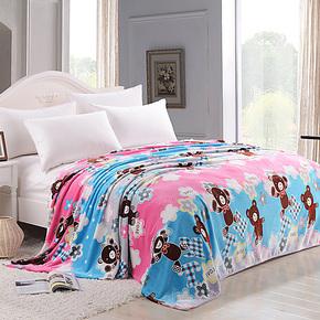 科迪家纺 毯子秋冬休闲儿童毯珊瑚绒加厚盖毯毛毯单人法兰绒毛毯