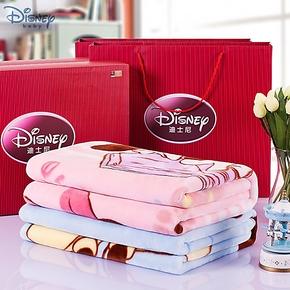 迪士尼超柔新生婴儿毛毯秋冬加厚儿童毛毯宝宝盖毯云毯送礼盒包邮