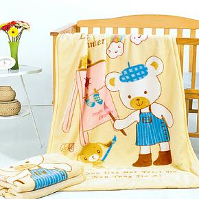 佳爱贝比双层双面拉舍尔童毯加厚毛毯婴儿柔软盖毯儿童毛毯