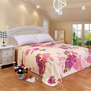 新光 拉舍尔双层印花超柔云毯 婚庆高档毛毯 床单毯子 特价包邮
