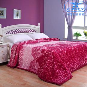新光  双层印花拉舍尔毛毯  加厚双人秋冬毛毯子 特价包邮 9斤