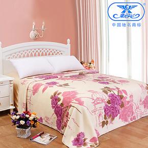 新光云毯  单人双层拉舍尔印花毛毯 空调休闲毯盖毯床单 特价包邮