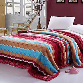 新光 冬用加厚毛毯 拉舍尔双层超柔毛毯2乘2.3米8斤加厚 特价包邮