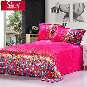 盛怡毛毯加厚单双人珊瑚绒毯子法莱绒毛毯冬季保暖床单特价包邮