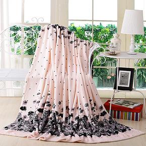 超柔珊瑚绒毯子法莱绒毛毯盖毯 田园单人法兰绒 卡通花朵加厚床单