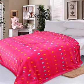 盛菲妮 法兰绒毯子加厚法莱绒毛毯珊瑚绒毯床单人午睡毯特价毛毯