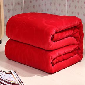 杉杉毛毯法兰绒毯子 法莱绒加厚冬毛毯空调午睡盖毯床单 珊瑚绒毯
