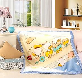 乐美碟童毯婴儿毛毯超柔双层春秋冬加厚拉舍尔毛毯 亚克力毯