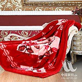 专柜正品 红豆 婚庆毛毯 喜庆风亚克力毛毯 秋冬加厚 大红8斤毛毯