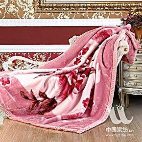 红豆专柜正品 婚庆毛毯 喜庆风亚克力毛毯 加厚8斤毛毯 全国包邮