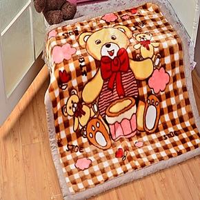 童毯特价包邮儿童婴幼儿超柔加厚拉舍尔亚克力毛毯盖毯童毯宝宝毯