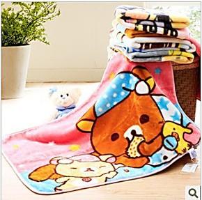 维科兴洋家纺 儿童毛毯 毛巾毯子 午睡毯 小白与棕熊