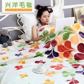 兴洋毛毯 秋冬加厚拉舍尔超柔保暖毛毯 可做床单