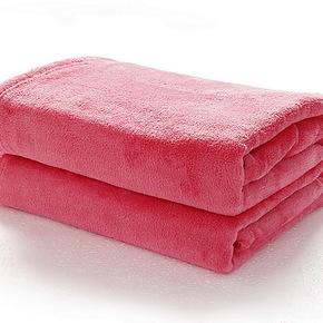 维科家纺兴洋毛毯珊瑚绒毯子薄毯保暖床单纯色结婚懒人办公毯