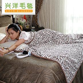 兴洋家纺 双面印花珊瑚绒毯 加厚毛毯