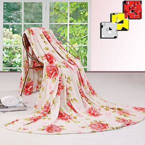 逸菲阁 288印花珊瑚绒毯子 盖毯 单人双 毛毯 线毯 清仓买5包邮