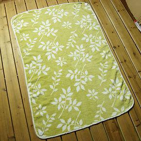 外贸日单柔软珊瑚绒印花可扣纽扣当披肩两用式保暖毛毯绒毯休闲毯