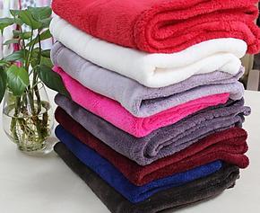 5元素色印花小毛毯珊瑚绒毯空调毯午睡毯婴儿毯膝盖毯宠物毯特价