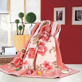 恒源祥羊毛毯 盖毯 冬毯 纯毛毛毯 婚庆 LT60 LT61 专柜正品