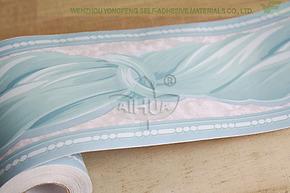 爱花PVC自粘墙纸卧室客厅专用地脚线 家具贴膜 壁纸 腰线贴 B1002