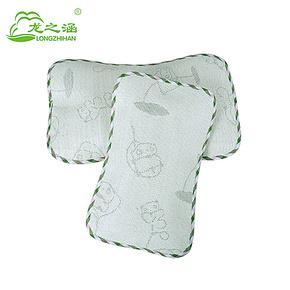 竹炭亚麻草婴幼儿童宝宝凉席枕头 植物纤维小孩席子枕头 夏凉用品