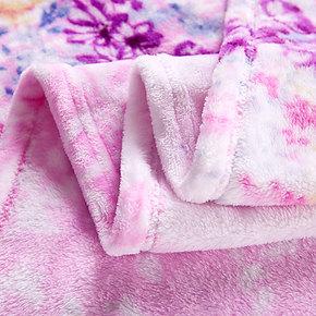 真彩法兰绒毛毯冬天毛绒毯珊瑚绒床单人双人保暖毯午睡午休闲毯子