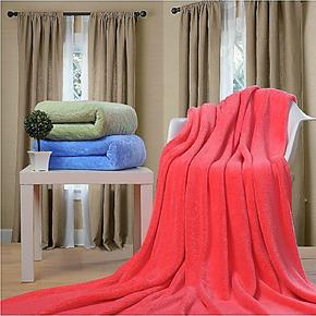 恒源祥纯色珊瑚绒毯空调毯毛毯保暖床单法莱绒毯午休毯法兰绒毯子