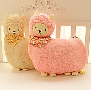 好眠羊Aunt Merry 羊驼抱枕可爱空调毛毯 抱枕两用空调毯 靠垫
