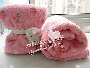 特价 草莓毯 草莓毛毯 羊驼空调毯 羊羊草莓珊瑚绒毛毯子
