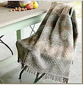 罗莱正品 Q560意大利几何韵律提花羊毛毯 进口羊驼毛 床上用品
