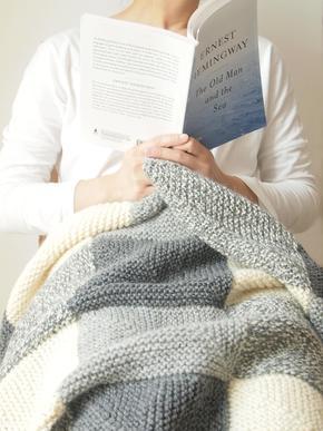 in warm手工制品 羊驼绒 手工编织沙发毯/休闲毯/羊毛毯